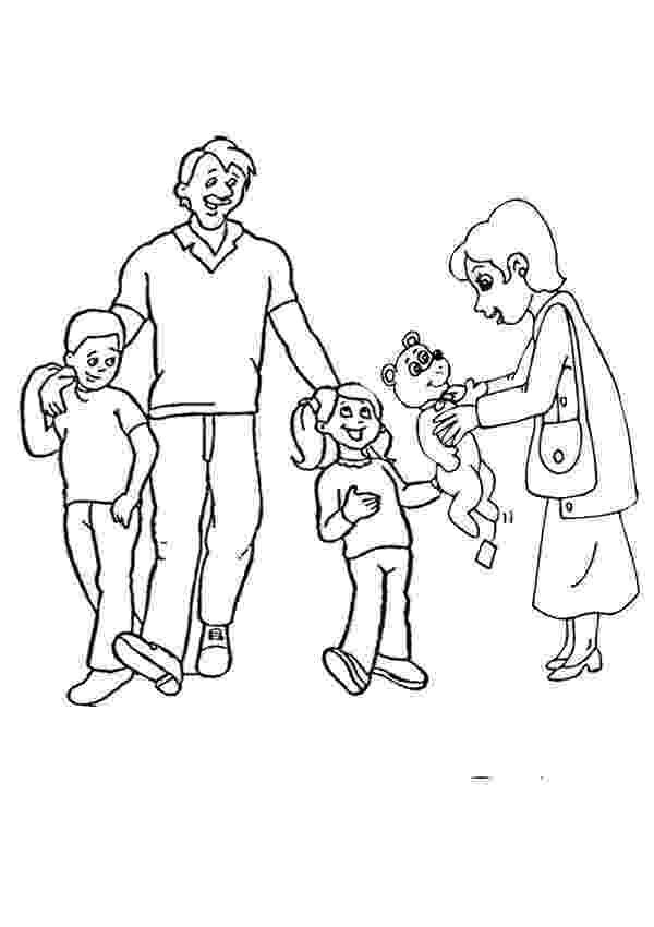 family coloring pages printable family colouring page activities kidspot family pages printable coloring