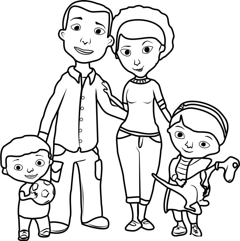 family coloring pages printable free printable doc mcstuffins coloring pages family coloring pages printable