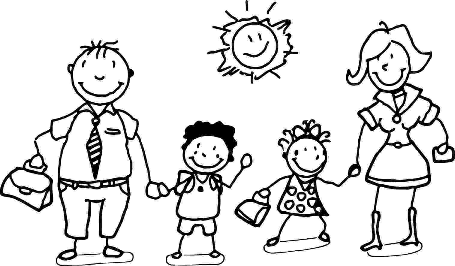 family coloring pages printable happy family and children coloring page family coloring coloring pages printable family