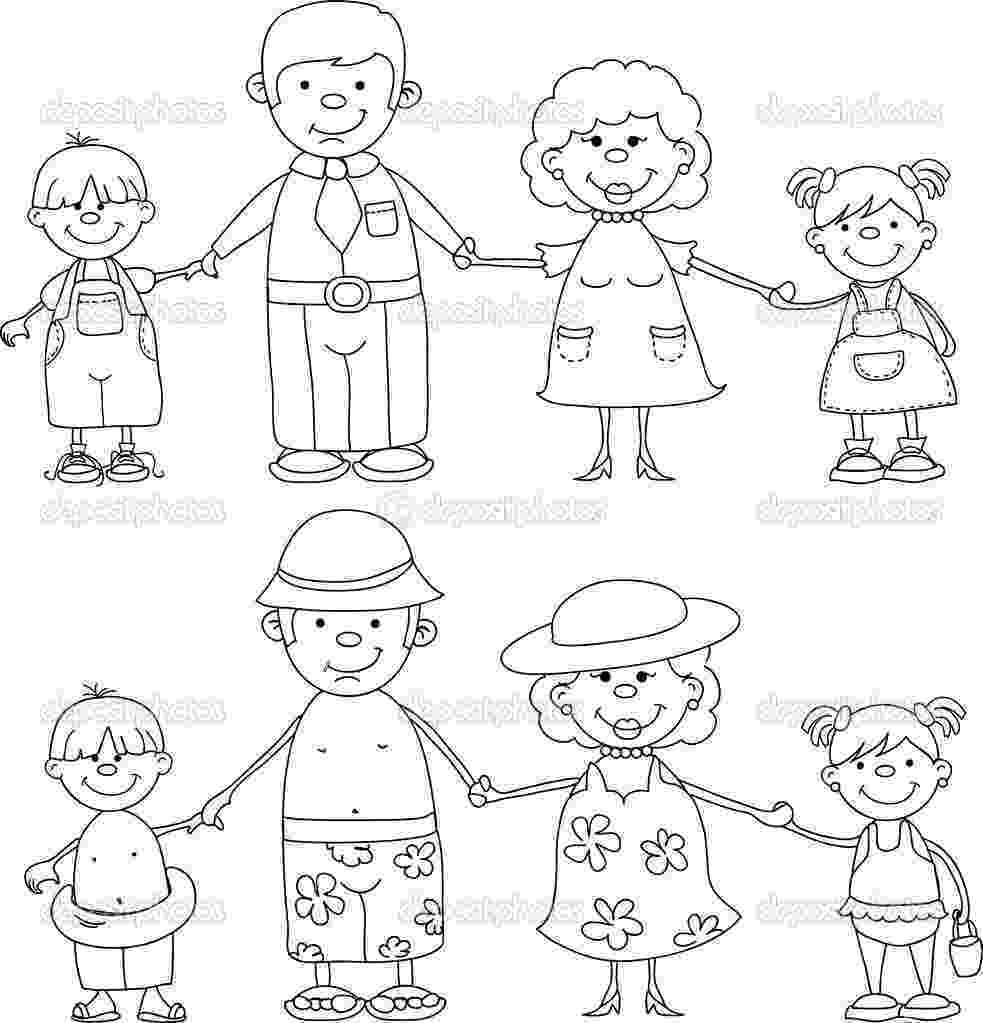 family coloring pages printable peppa pig colouring in printables plus huge peppa pig pages coloring printable family