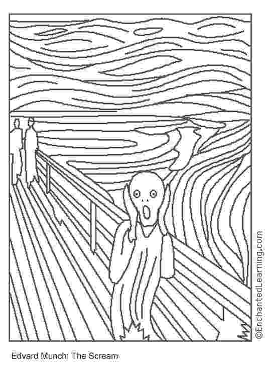 famous painting coloring pages famous paintings coloring pages at getcoloringscom free pages painting coloring famous