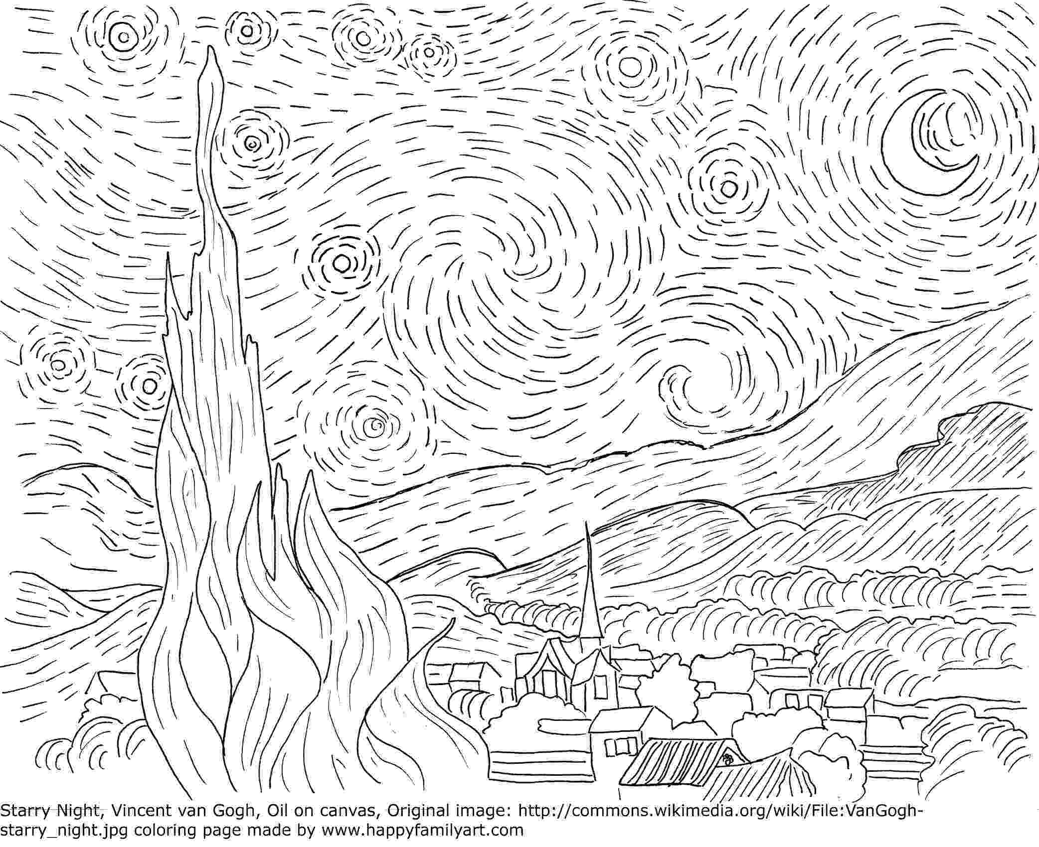 famous painting coloring pages famous paintings van gogh vermeer flowers american gothic painting pages coloring famous