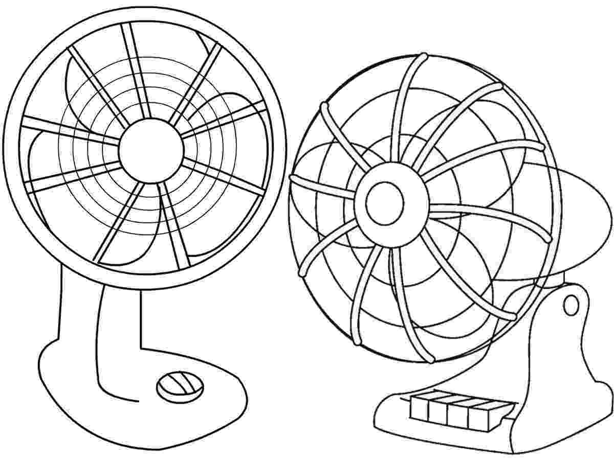 fan coloring page household coloring pages printable games fan coloring page