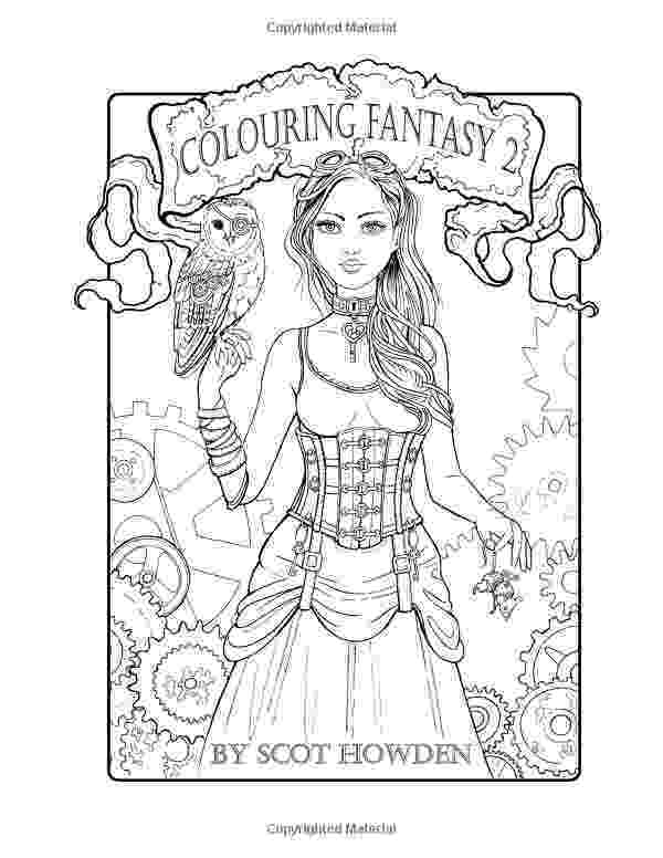 fantasy coloring pictures quotworryquot free fantasy girl coloring page by molly harrison fantasy coloring pictures