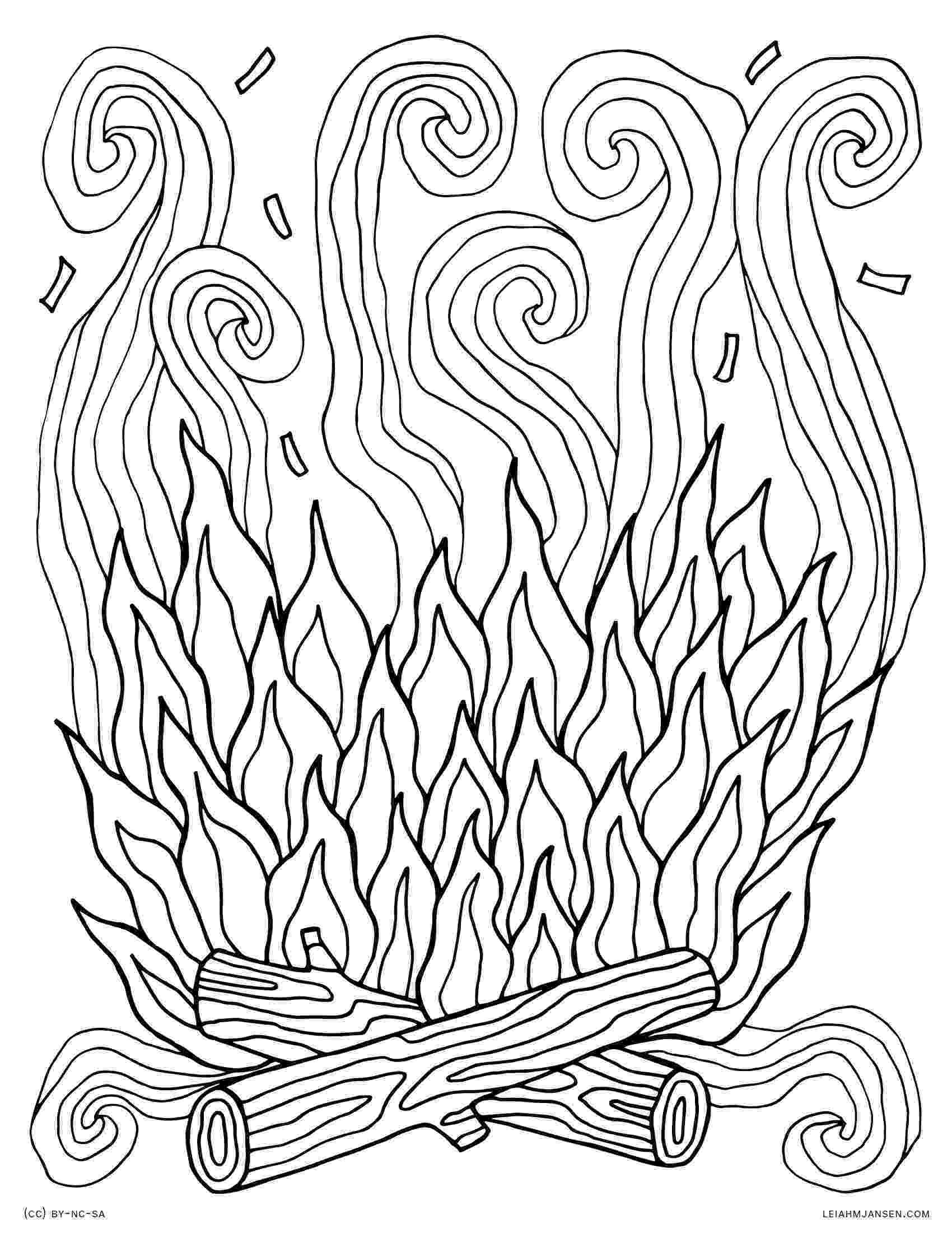 fire coloring pages printable campfire coloring pages getcoloringpagescom fire coloring pages printable