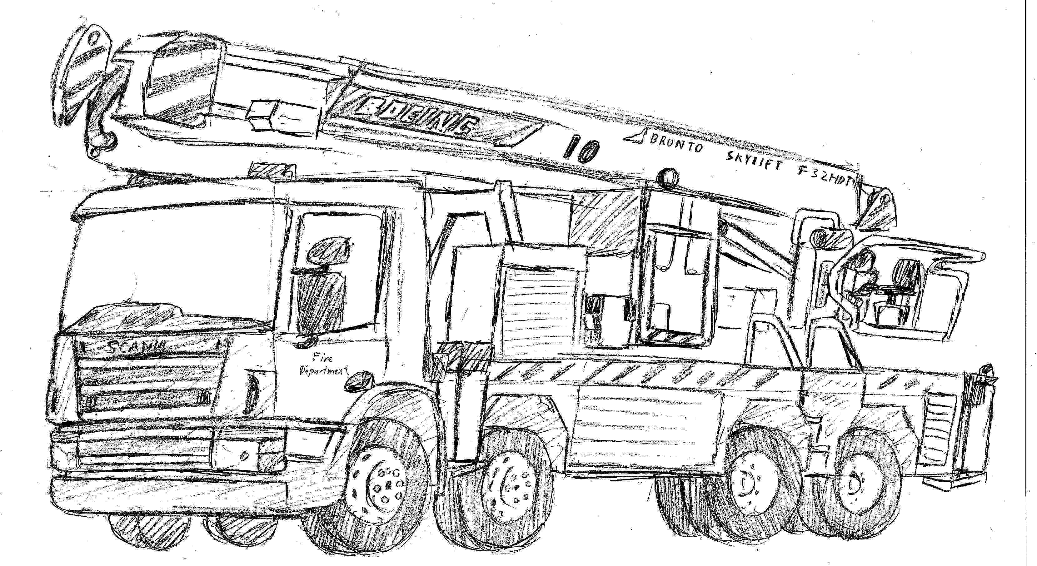 fire engine sketch fire engine colouring fire engines pinterest fire sketch fire engine