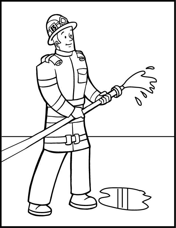 fireman coloring page fireman coloring pages hellokidscom coloring fireman page