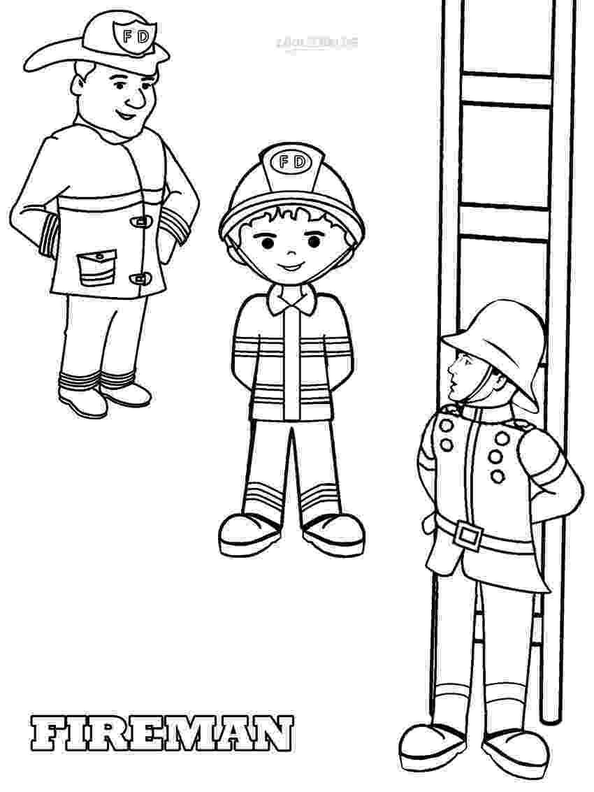 fireman coloring page free printable fireman coloring pages cool2bkids coloring fireman page