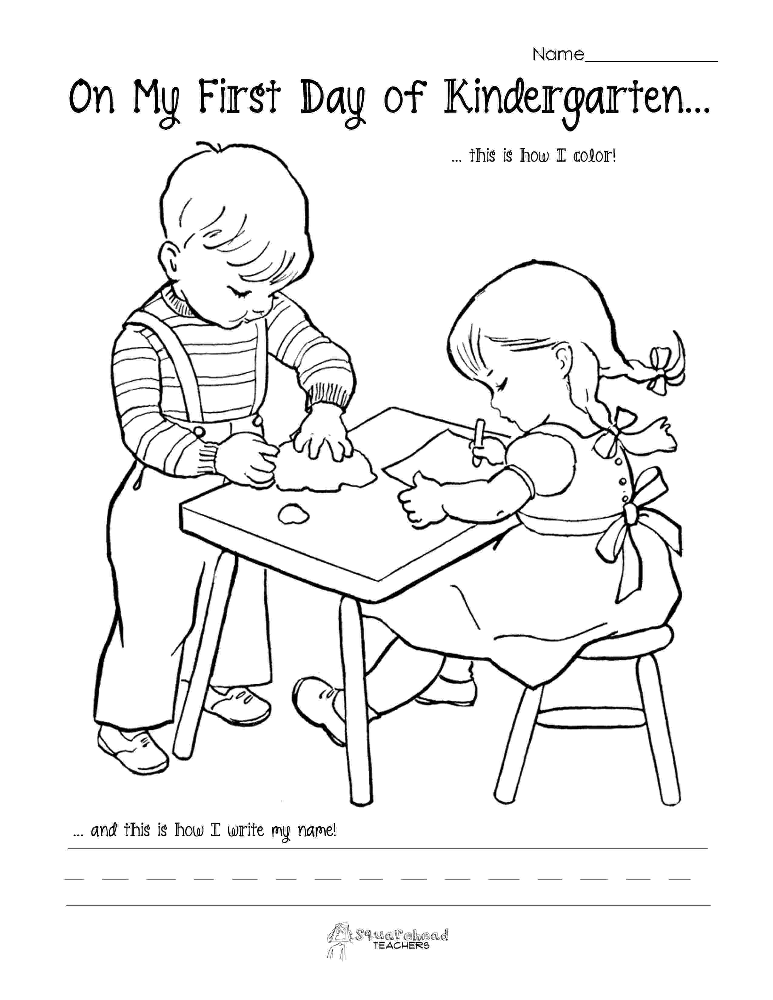 first day of kindergarten coloring page 1000 images about back to school on pinterest back to of coloring day first page kindergarten