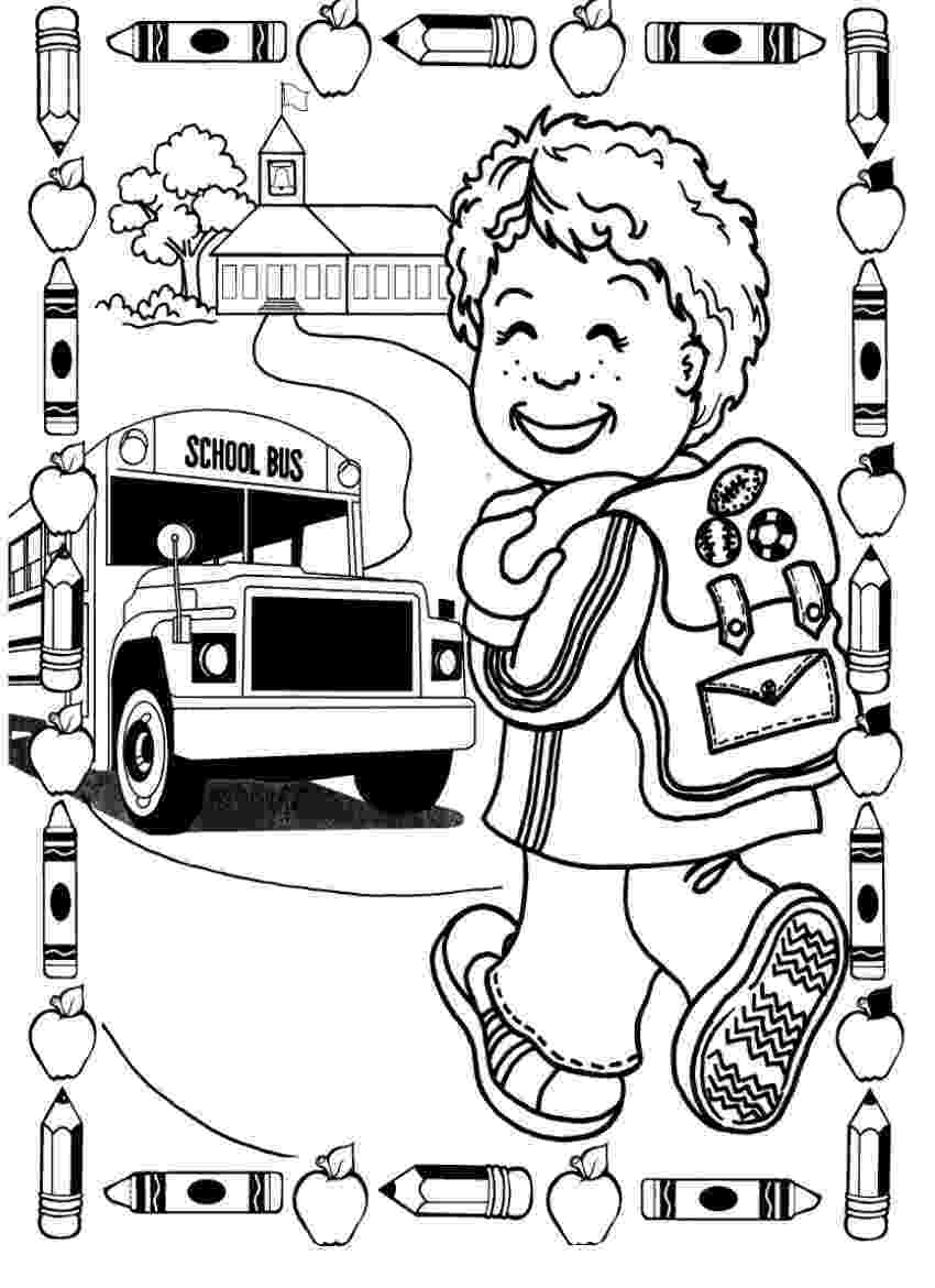 first day of kindergarten coloring page back to school progress through the year p k 1st first coloring kindergarten day page of
