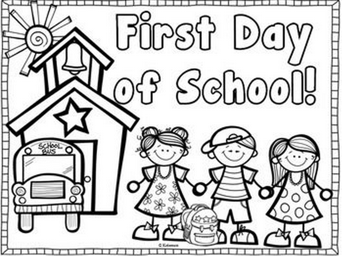 first day of kindergarten coloring page coloring pages welcome to kindergarten coloring page day kindergarten page coloring first of