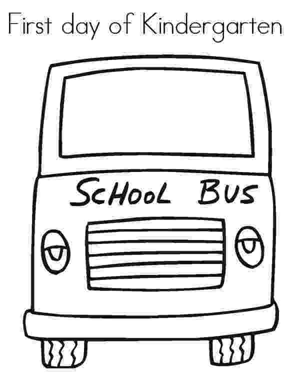 first day of kindergarten coloring page free my first day of school coloring page i love this page of day first kindergarten coloring