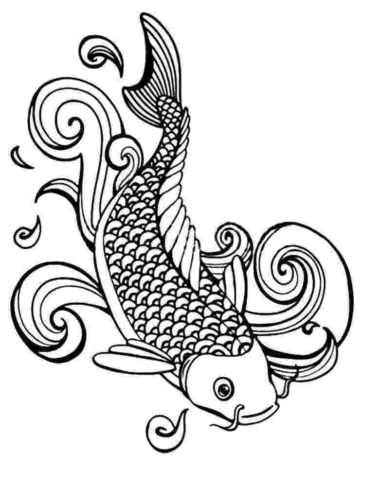 fish coloring pages for adults 94 best ideas about koi fish on pinterest japanese koi for adults pages fish coloring