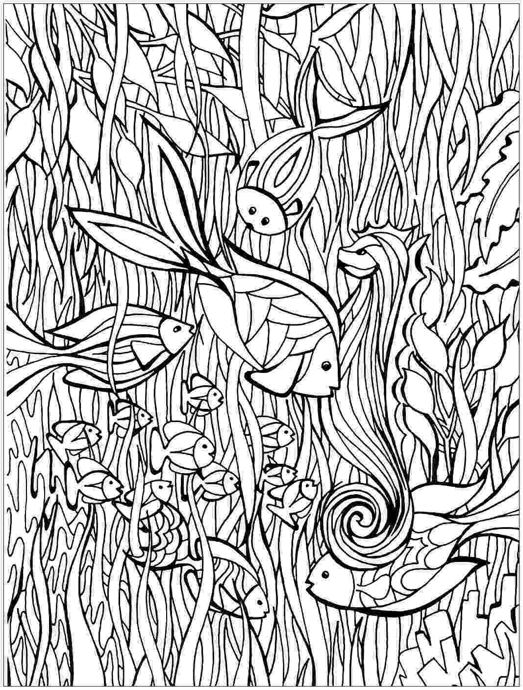 fish coloring pages for adults art therapy coloring page animals fish 1 fish pages coloring for adults
