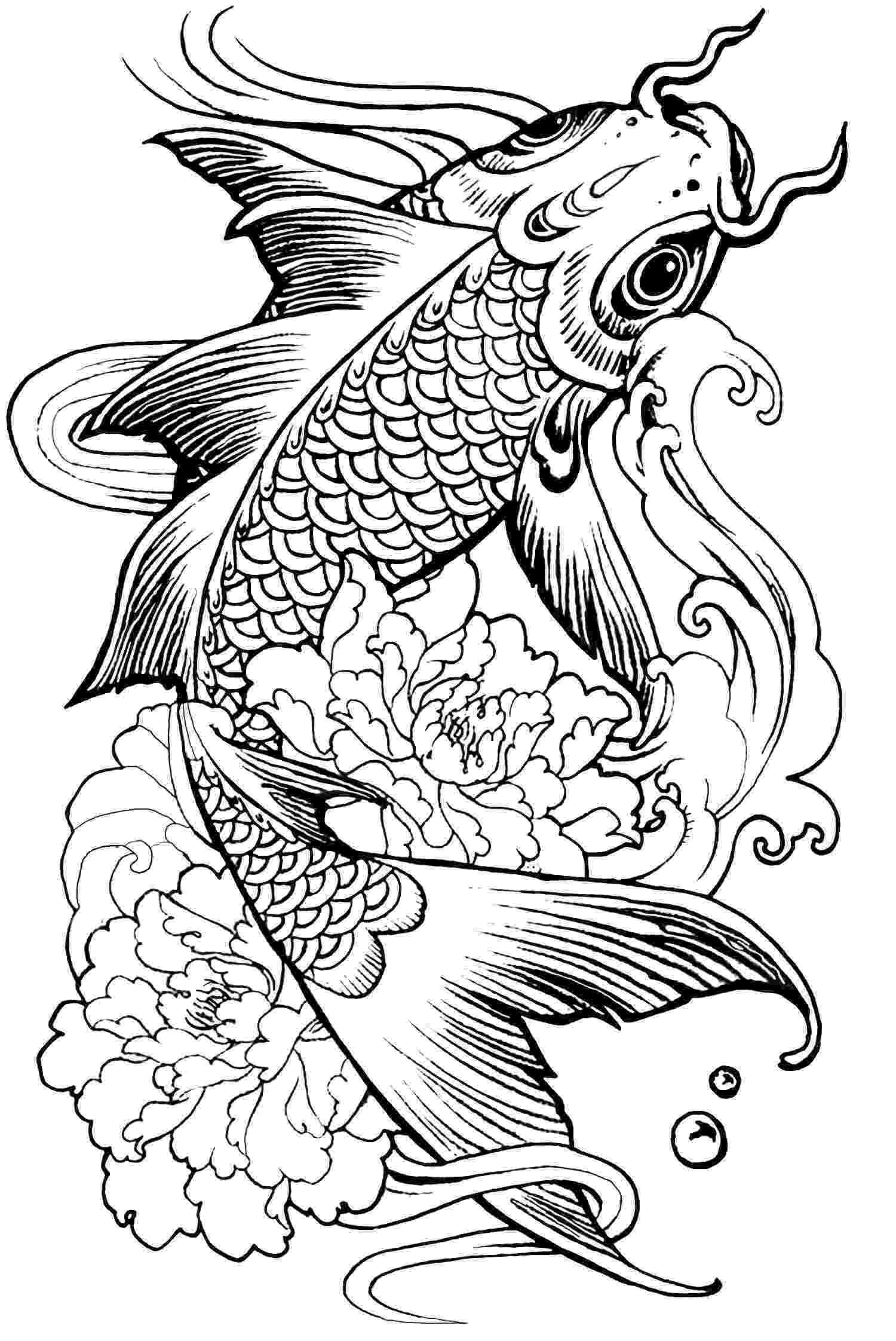 fish coloring pages for adults ausmalen kostenlose mandalas zum ausdrucken malvorlage for pages fish coloring adults