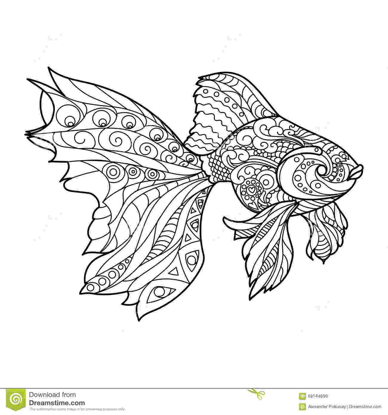 fish coloring pages for adults carp koi fish adult coloring page zentangle doodle coloring coloring for adults fish pages
