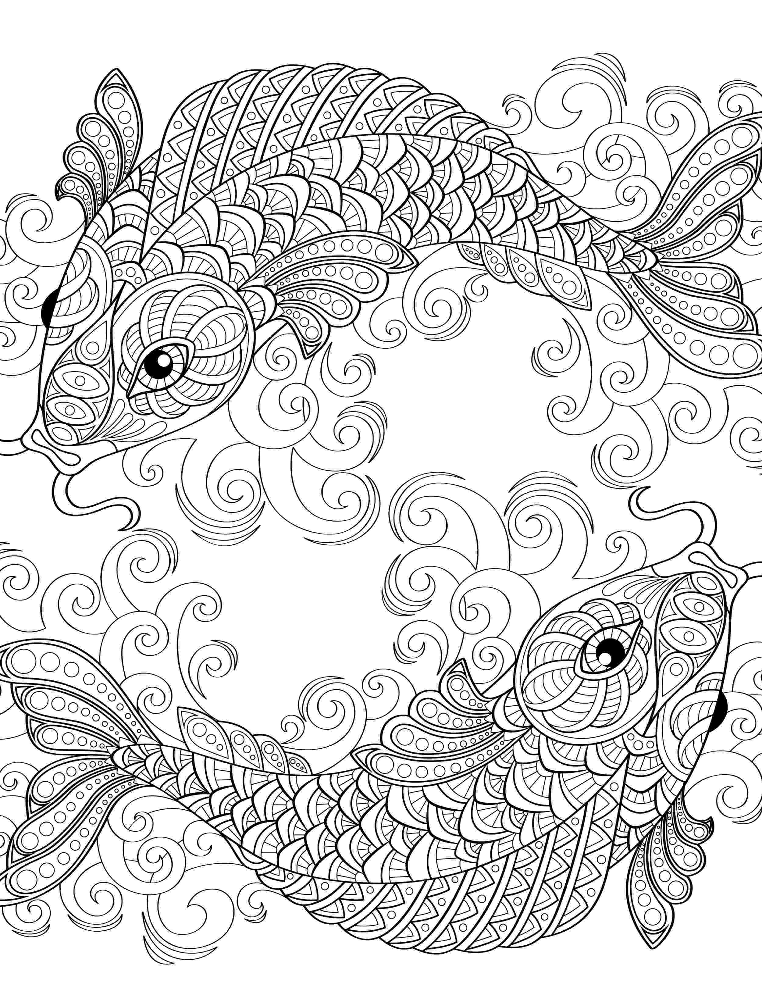 fish coloring pages for adults fish details fishes adult coloring pages coloring pages adults fish for