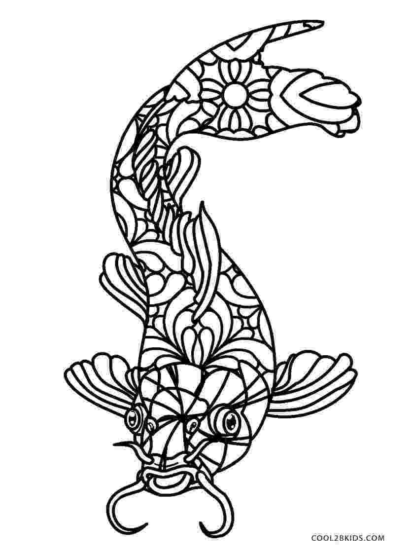 fish coloring pages for adults gold fish coloring book for adults vector stock vector coloring adults fish for pages