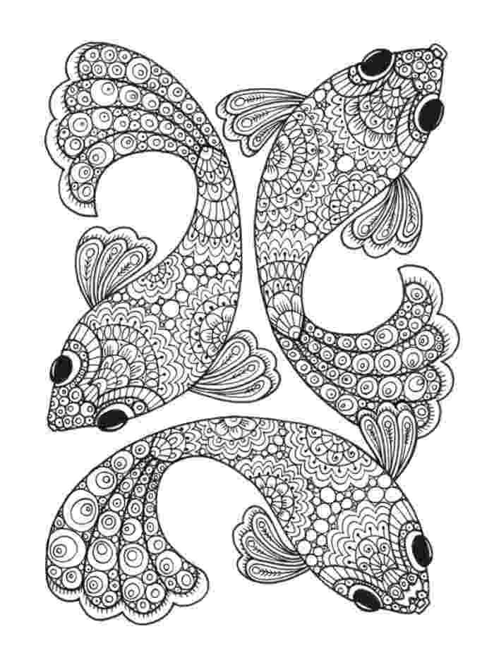 fish coloring pages for adults pattern for coloring book cute cartoon fish stock vector fish pages coloring for adults