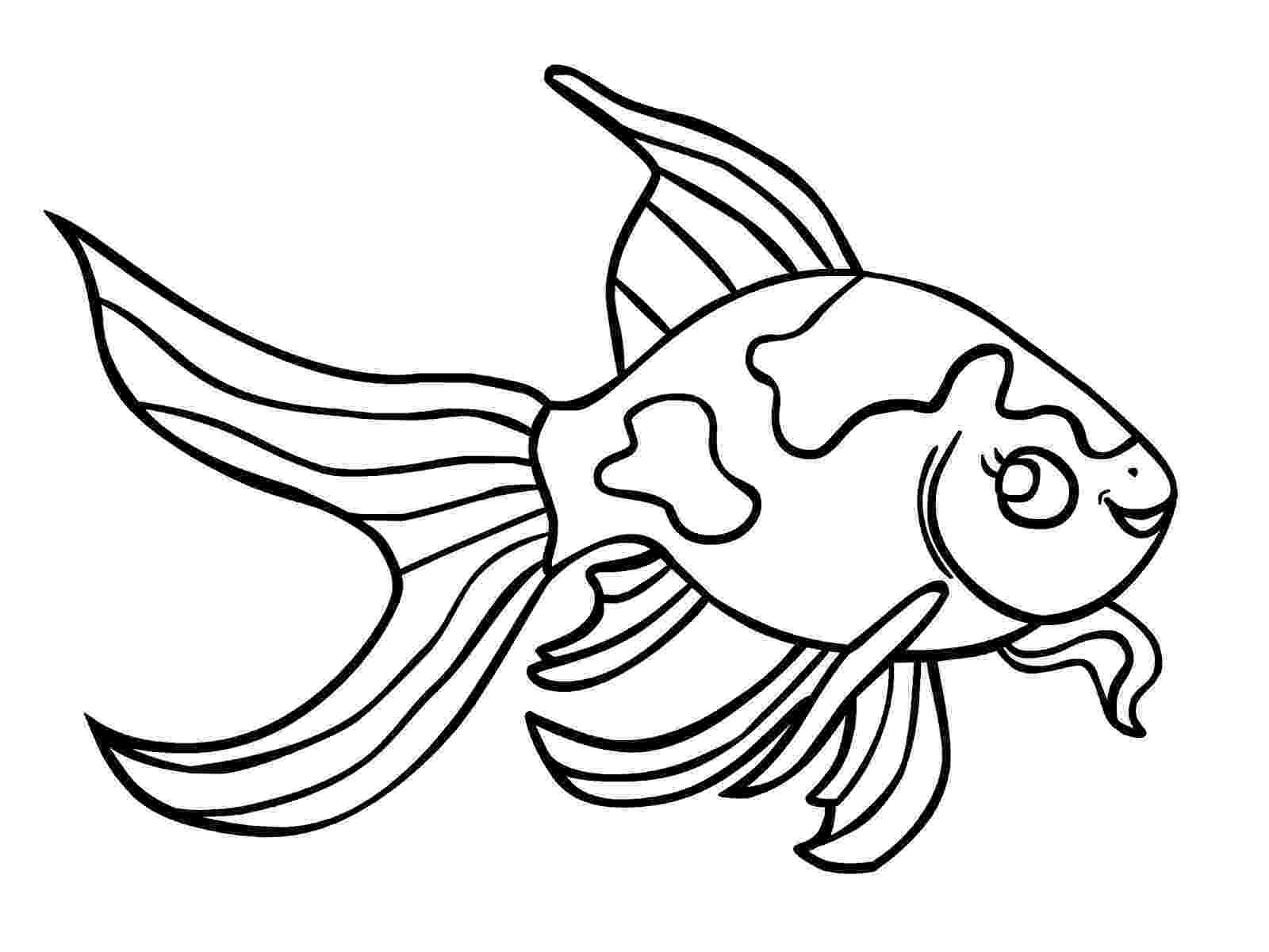 fish picture to color fish coloring pages for kids preschool and kindergarten fish picture to color