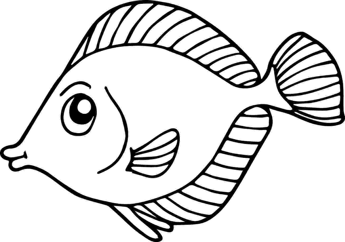 fishes coloring pages fish coloring pages for kids preschool and kindergarten pages coloring fishes