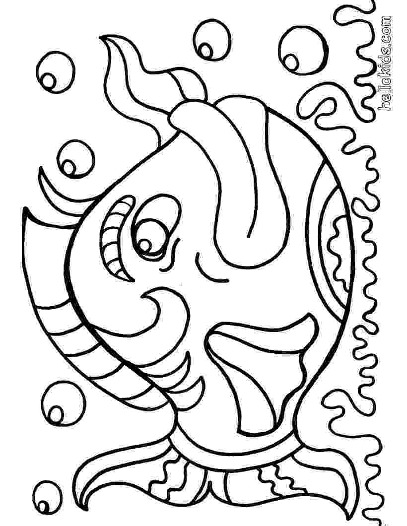 fishes coloring pages free fish coloring pages for kids pages fishes coloring