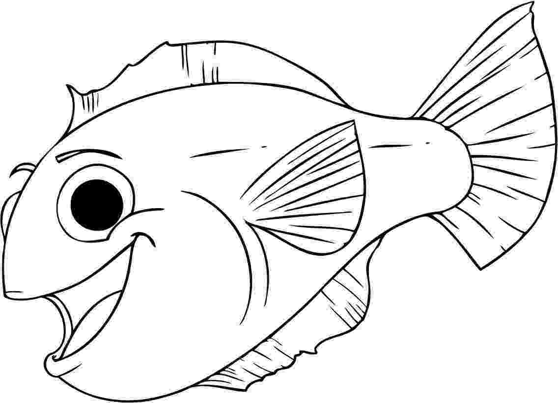 fishes coloring pages free printable fish coloring pages for kids tiger cub fishes coloring pages