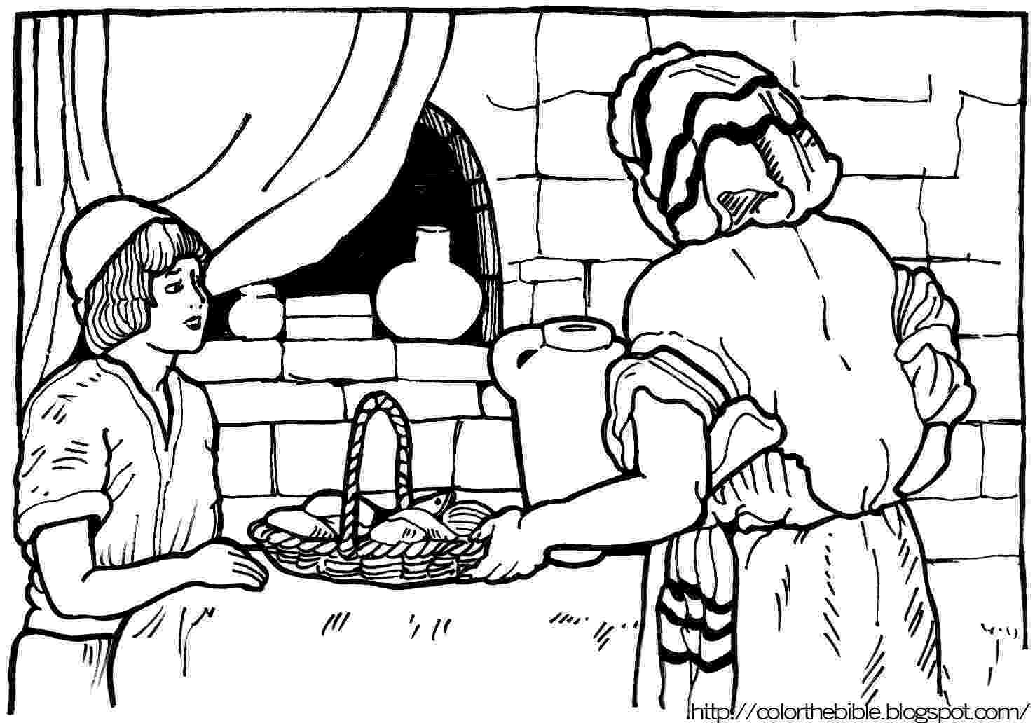 fishes coloring pages loaves and fishes color the bible fishes pages coloring