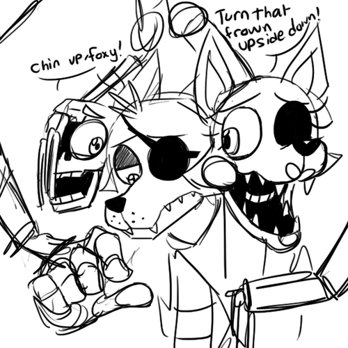 five nights at freddys mangle endo mangle trying to cheer up foxy rebornica fnaf five nights freddys mangle at