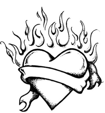 flames coloring pages heart with flames coloring pages of hearts with flames pages coloring flames