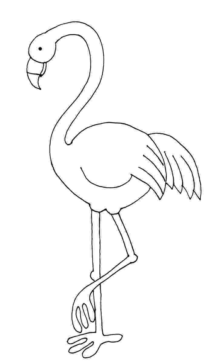 flamingo template bird outline template flamingo for the machine template flamingo
