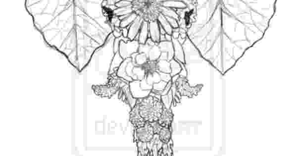 floral elephant coloring page abstract elephant coloring pages getcoloringpagescom elephant page floral coloring