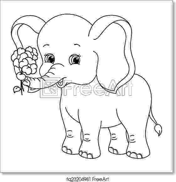 floral elephant coloring page balancing elephant hattifant floral coloring elephant page