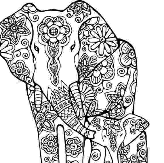 floral elephant coloring page elephant coloring page to print and color nature flowers floral page elephant coloring