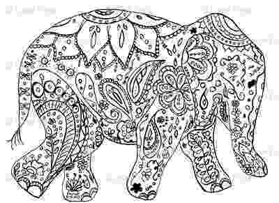 floral elephant coloring page elephant flower coloring pages wecoloringpagecom floral elephant coloring page