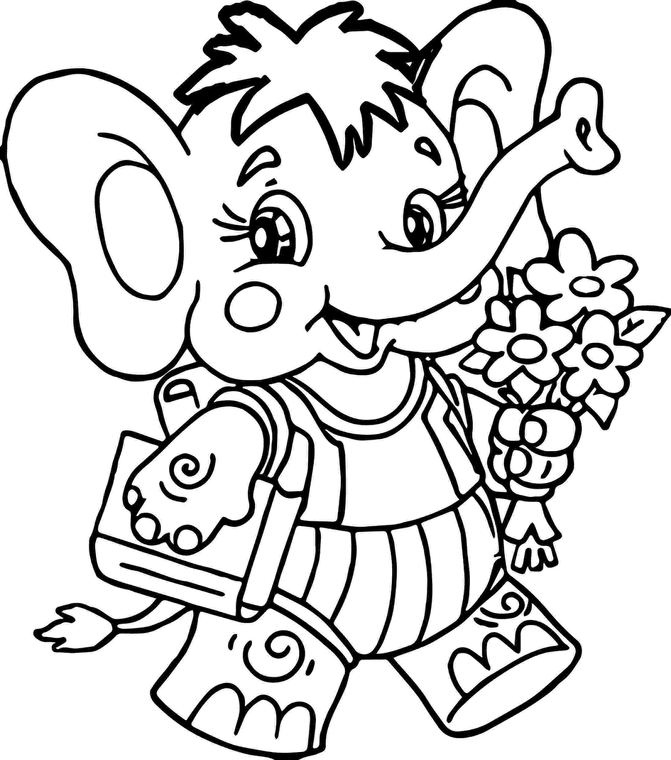 floral elephant coloring page elephant with flower coloring page wecoloringpagecom elephant page floral coloring