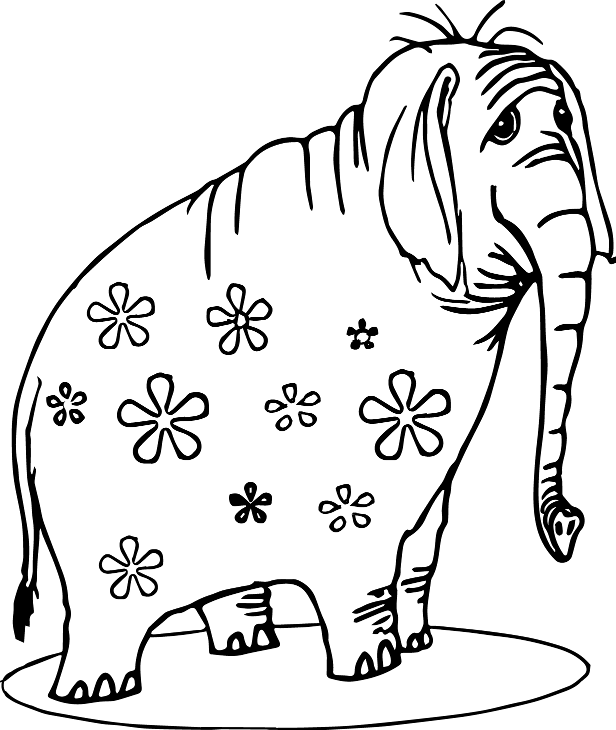 floral elephant coloring page floral elephant coloring pages for adults henna elephant coloring page elephant floral