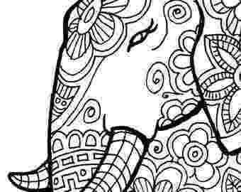 floral elephant coloring page floral elephant coloring pages for adults printable elephant coloring page floral