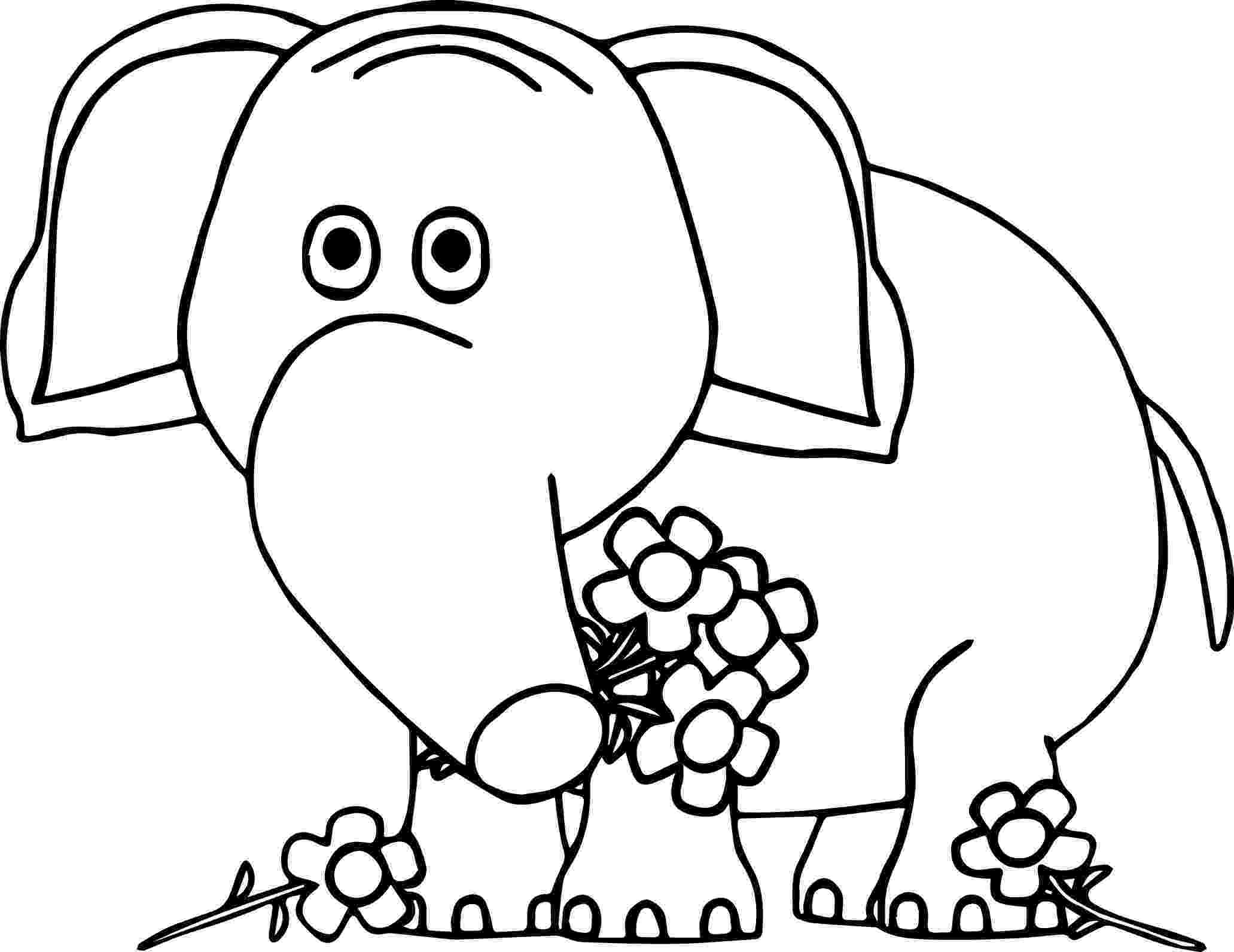 floral elephant coloring page flower series elephant sketch by simonbageldeviantart coloring floral elephant page