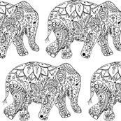 floral elephant coloring page free art print of elephant coloring page baby elephant page coloring elephant floral
