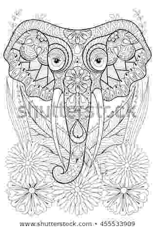 floral elephant coloring page items similar to animal and pets floral coloring page book coloring elephant floral page