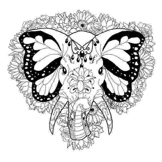 floral elephant coloring page items similar to elephant floral coloring page book page elephant floral coloring