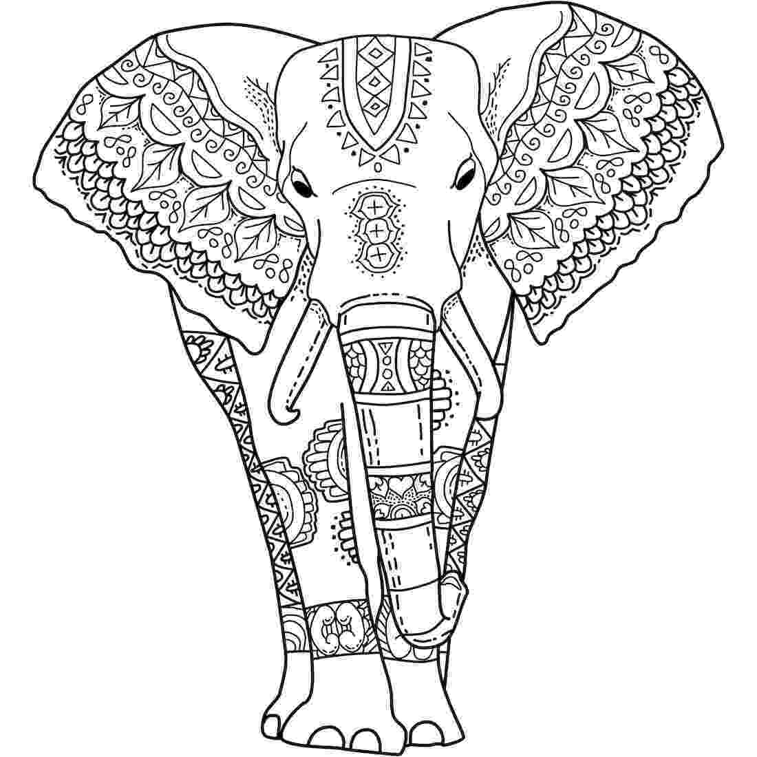 floral elephant coloring page the 24 best y blank pattern elephants images on pinterest elephant coloring floral page