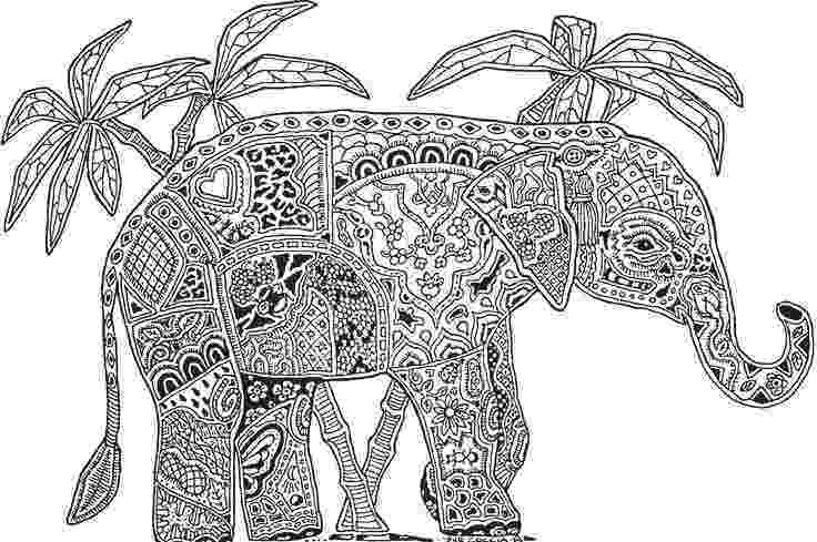 floral elephant coloring page zentangle stylized elephant head on flowers stock vector page coloring elephant floral
