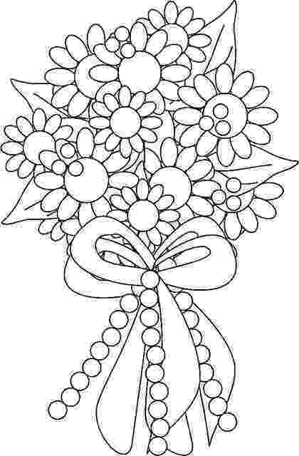 flower bouquet coloring pages beautiful flower bouquet coloring page flowers templates bouquet coloring pages flower