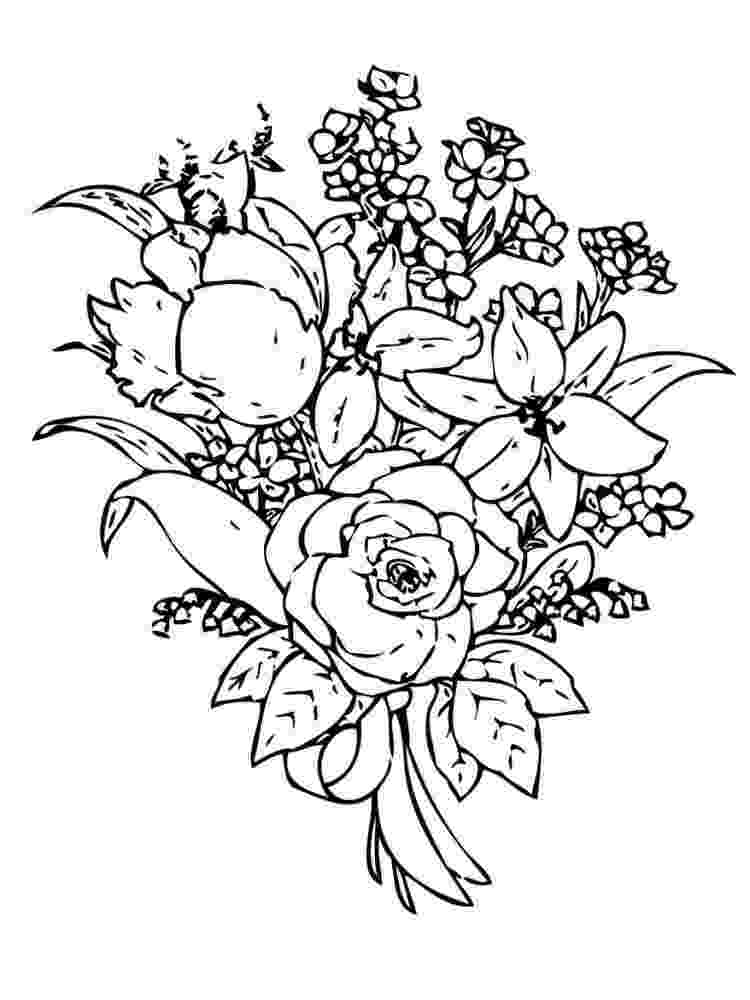 flower bouquet coloring pages bouquet flowers colouring sheets free printable for girls coloring bouquet flower pages