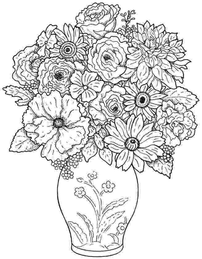 flower bouquet coloring pages bouquet of flowers coloring pages for childrens printable bouquet flower pages coloring