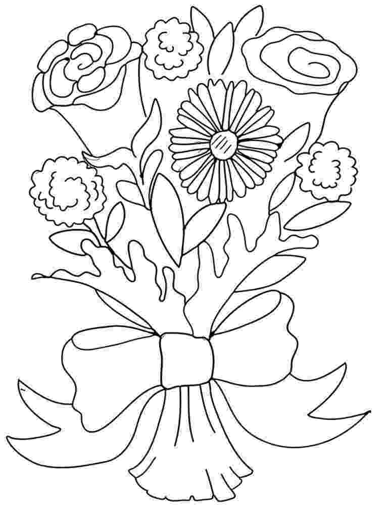 flower bouquet coloring pages bouquet of flowers coloring pages for childrens printable bouquet pages flower coloring