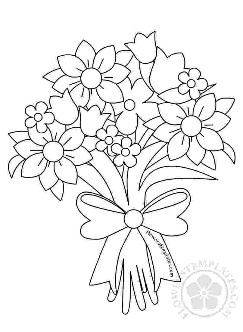 flower bouquet coloring pages bouquet of flowers coloring pages for childrens printable pages bouquet coloring flower