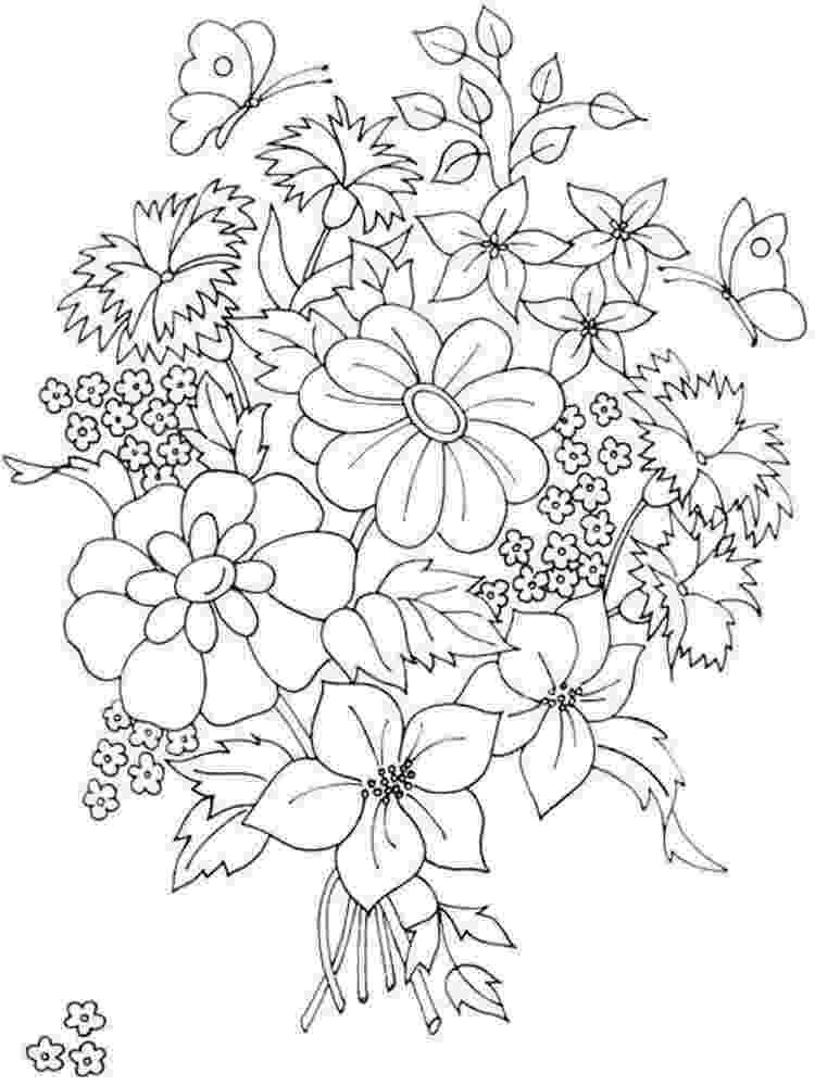flower bouquet coloring pages detailed flower coloring pages to download and print for free pages flower coloring bouquet